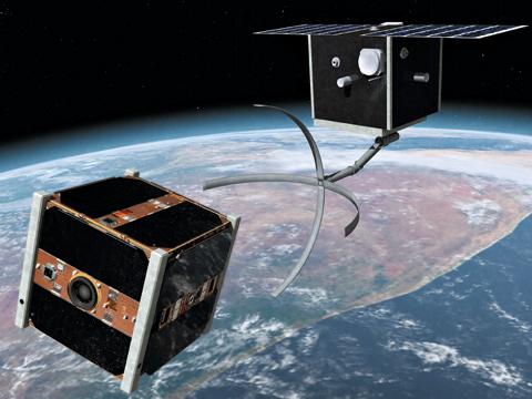 스위스 로잔 연방공대가 개발한 우주 쓰레기 제거용 로봇팔./로잔 연방공대 제공