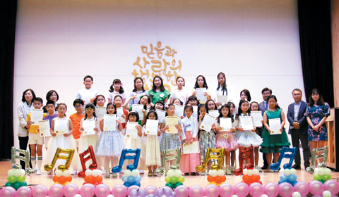 세종초 주최 '제20회 동요 부르기 대회'에 참가한 어린이들의 모습.