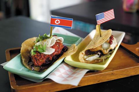 멕시코 음식점의 '로켓맨 타코'./로이터 연합뉴스