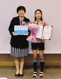 동화쓰기대회 부문 대상 수상자 최은이 양.