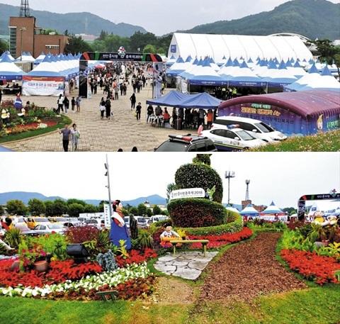 천안흥타령춤축제 축제 현장의 모습.
