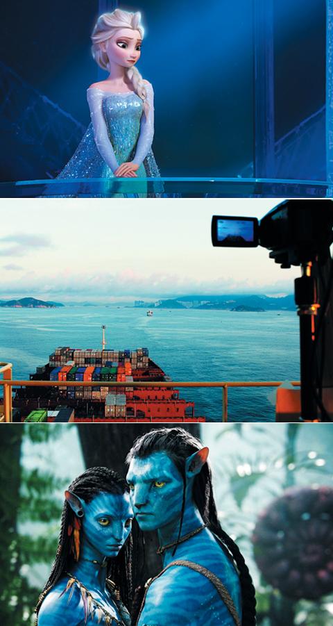(위부터)디즈니의 애니메이션 영화 '겨울왕국'은 역대 애니메이션 영화 가운데 가장 큰돈을 벌었다. 영화 '로지스틱스(LOGISTICS)'의 한 장면. 홈페이지(logisticsartpro ject.com)에 들어가면 전체 영화를 감상할 수 있지만, 다 보려면 인내가 필요하다. '역대 최고 흥행 영화'인 '아바타'의 한 장면./IMDB·로지스틱스 아트 프로젝트 홈페이지·아바타무비닷컴