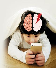 유아기 스마트폰 사용, 뇌 기능 발달 늦춘다